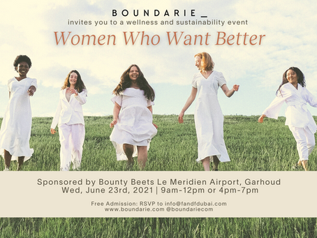 Women Who Want Better, a wellness and sustainability event