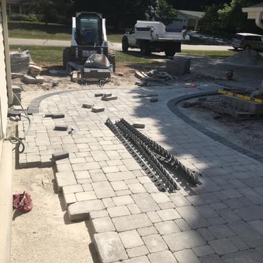 Installing paver patio
