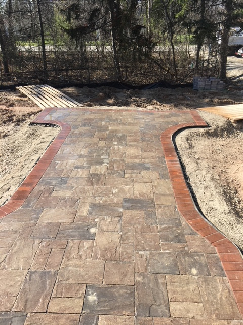 Front paver pathway