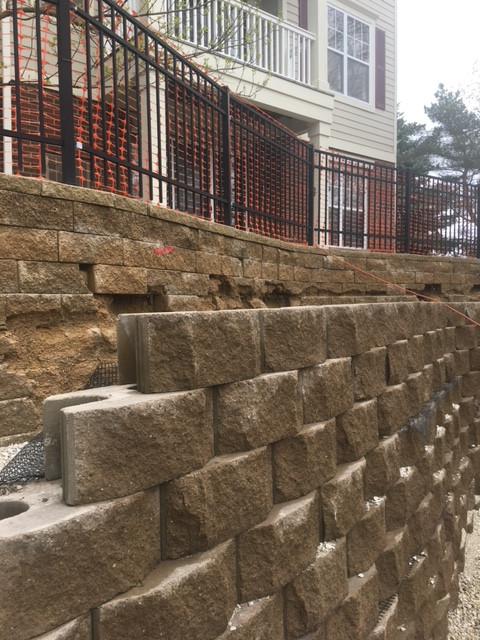 Beautiful retaining wall