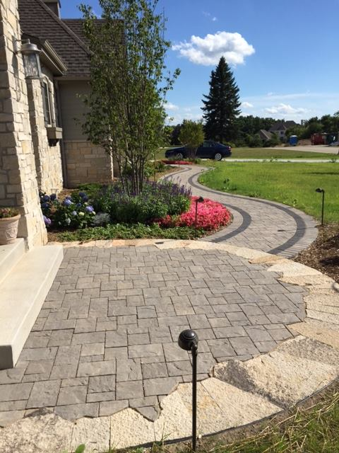 Paver pathway milwaukee landscaping