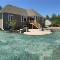 Hydromulch with new construction home.