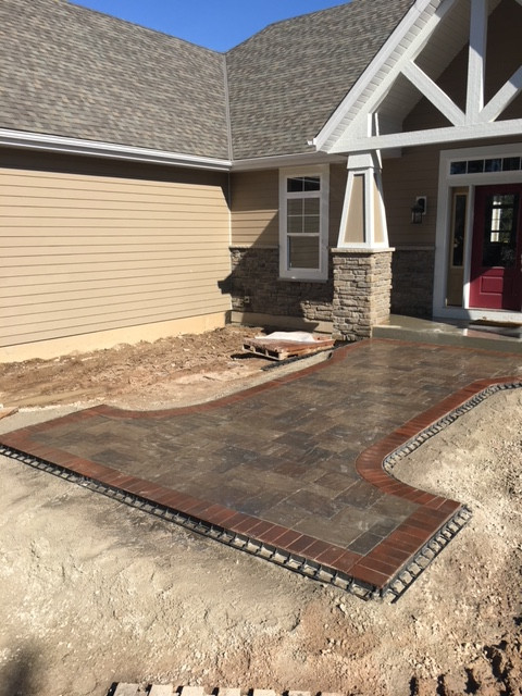 New construction paver entryway