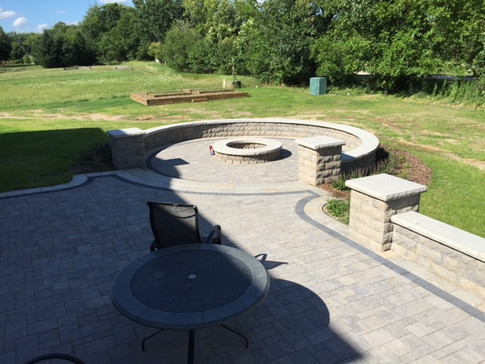 Garden Wall and Fire Pit