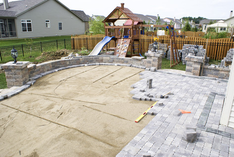 Kid friendly paver patio