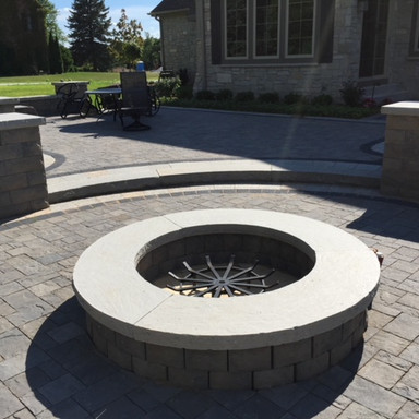 Firepit, paver patio and garden walls in Milwaukee, WI