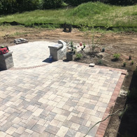 Paver Patio with Contrasting Border