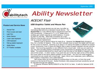 Newsletter: September 2002