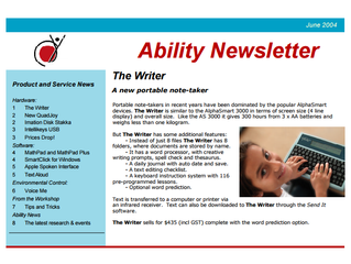 Newsletter: June 2004