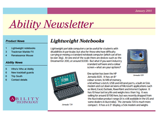 Newsletter: January 2001