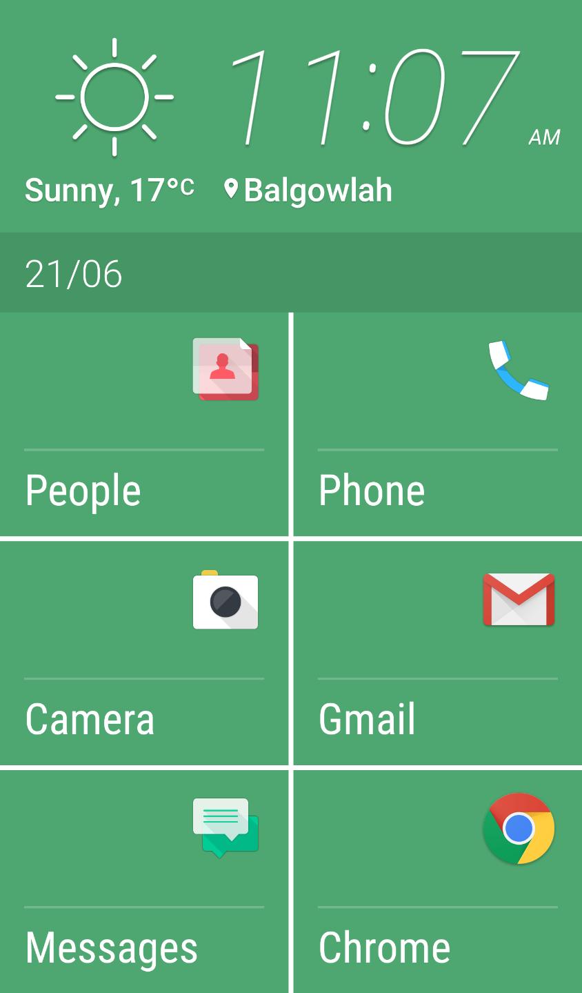 HTC's Easy Mode