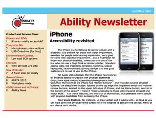 Newsletter: April 2010