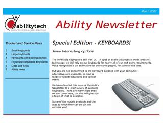 Newsletter: March 2002