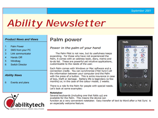 Newsletter: September 2001