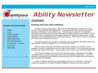 Newsletter: August 2002
