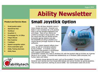 Newsletter: August 2004