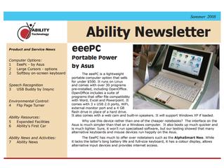 Newsletter: February 2008