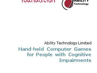 An Evaluation of Handheld Computer Games for People with Cognitive Impairment