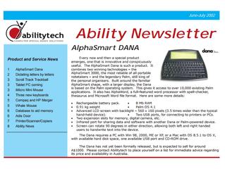 Newsletter: July 2002