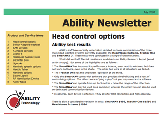 Ability Newsletter: July 2005