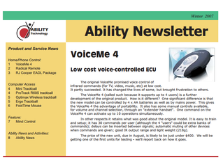 Newsletter: July 2007