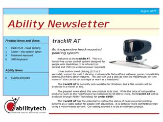 Newsletter: August 2001