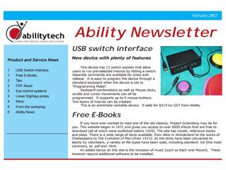 Newsletter: February 2003