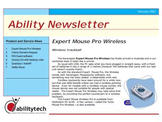Newsletter: February 2002