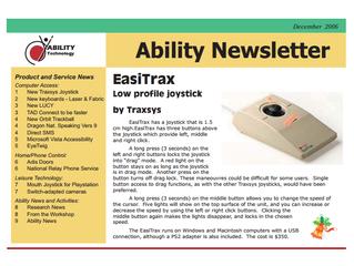 Newsletter: December 2006