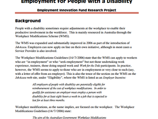 Productivity-Enhancing Technology and Employment for People with a Disabilty