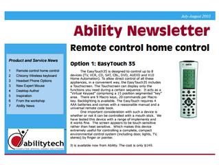 Newsletter: August 2003