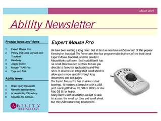 Newsletter: March 2001