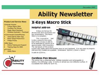 Newsletter: December 2005