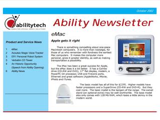 Newsletter: October 2002