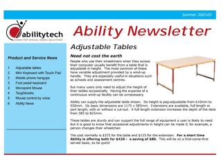 Newsletter: December 2002
