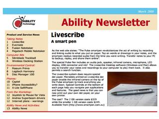Newsletter: March 2009