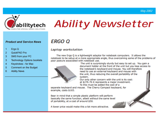 Newsletter: May 2002