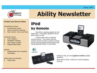 Newsletter: November 2007