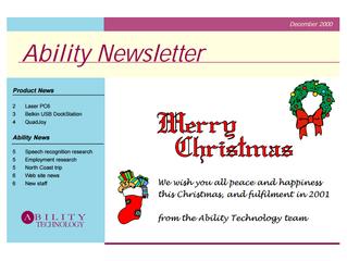 Newsletter: December 2000