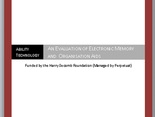 'An Evaluation of Electronic Memory and Organisation Aids for People with Cognitive Impairment&#