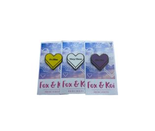 Fox & Koi Pronoun Pins