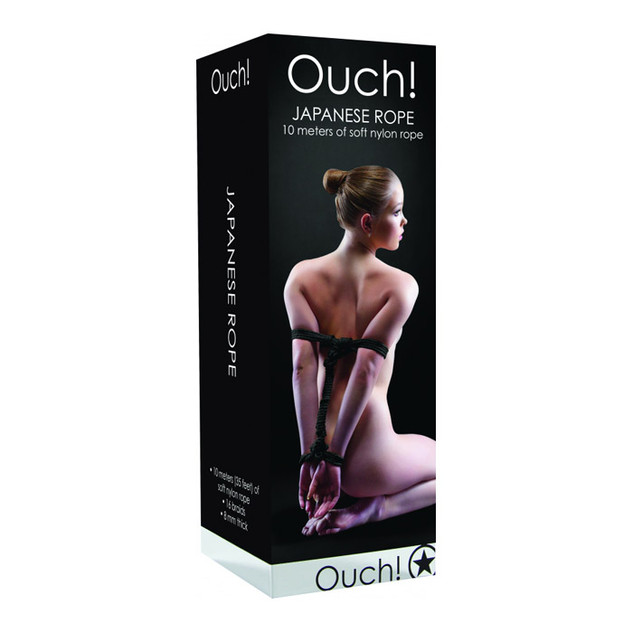Ouch! Soft Japanese Rope 10 Meters in Black
