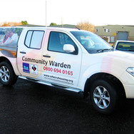 Vinyl Graphics and Vehicle Livery for Wherry Housing's Pick-Up Truck