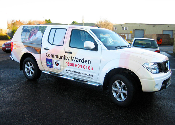 Community Warden Vehicle Livery for Wherry ousing Norfolk