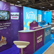 Polypropelene and Polyester Textile Graphics for Kettle Foods Stand