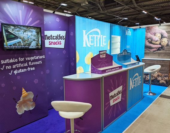 Modular Exhibition Stand Graphics for Kettle Foods Retail Events 2019
