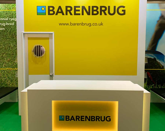 Custom Exhibition Stand Counter with logo Barenbrug BTME 2019