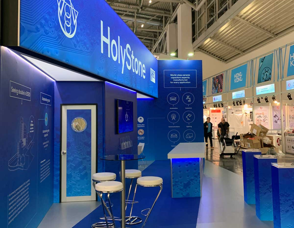 Exhibition Stand Design and Build Holystone at Electronica 2018