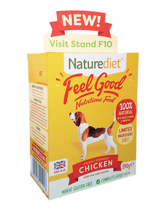 Super Size Product Packaging Display for Naturediet Pet Foods