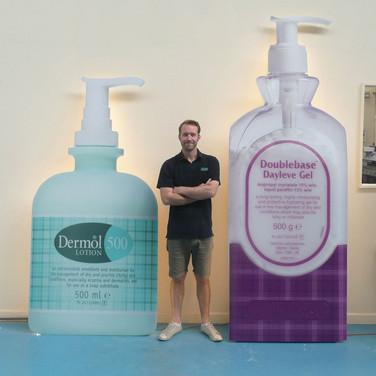 Giant Promotional Displays for Dermatology Brand Dermal